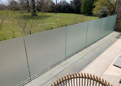 Etch panels in garden