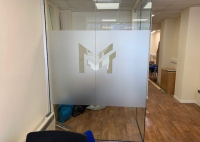 MMT partition frosted glass
