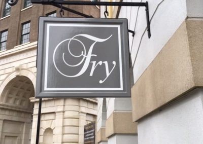Projecting Fry sign