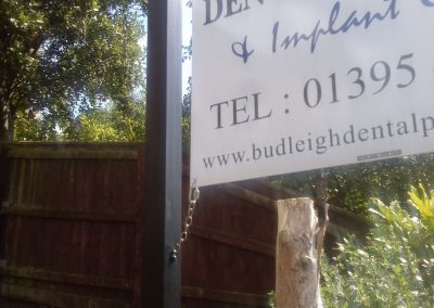 budleigh dental practice sign