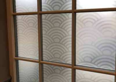 etch design for glass windows