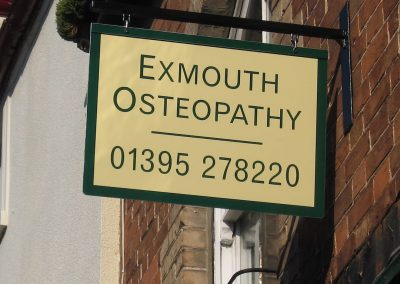exmouth osteopathy projecting sign