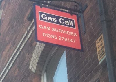 gas call projecting sign