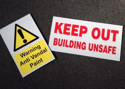 keep out stickers