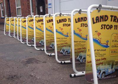 land train A frame sign