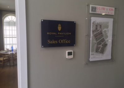 royal pavilion sign